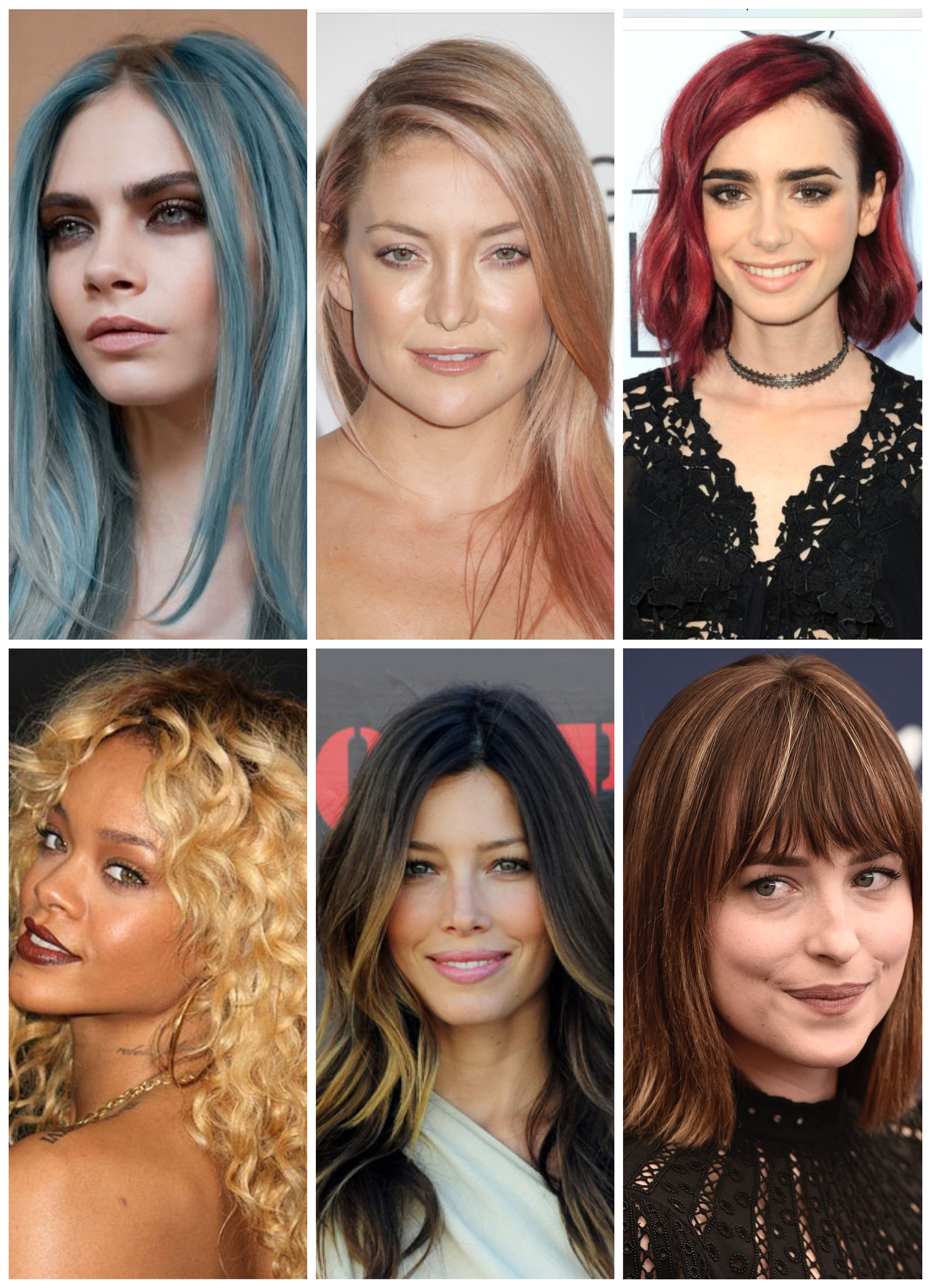 Celebrity Hair Colors 2016
